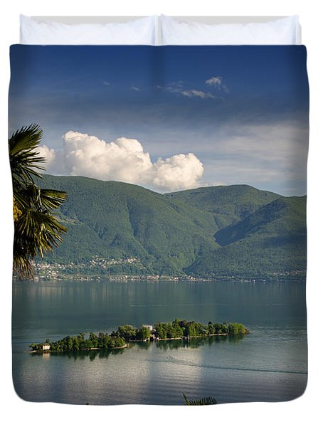 Islands On An Alpine Lake Duvet Cover