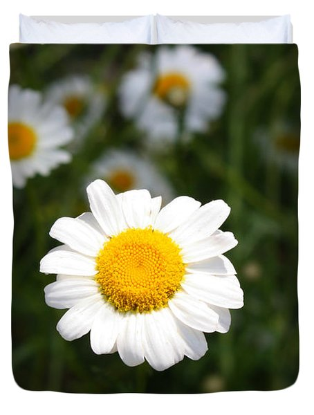 Duvet Cover featuring the photograph Isn't That A Daisy by Tony Cooper