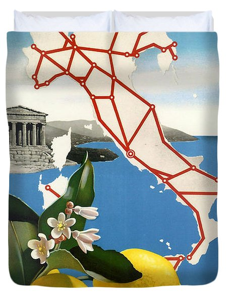 Italy Duvet Cover by Georgia Fowler