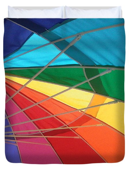 Duvet Cover featuring the photograph It's A Rainbow by David Pantuso