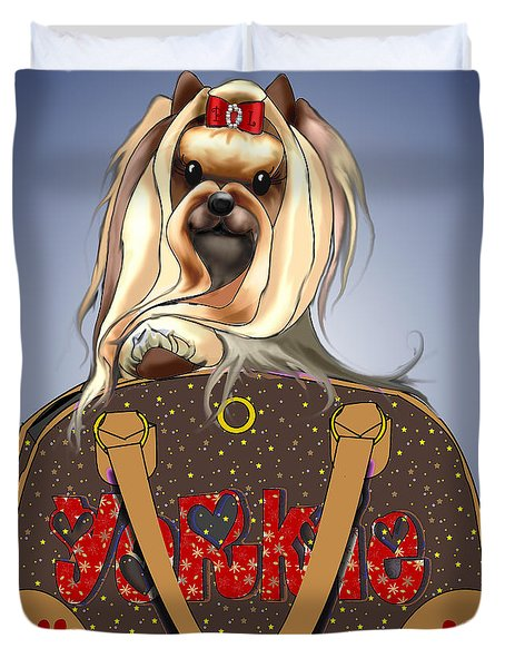 It's A Yorkie In A Bag  Duvet Cover