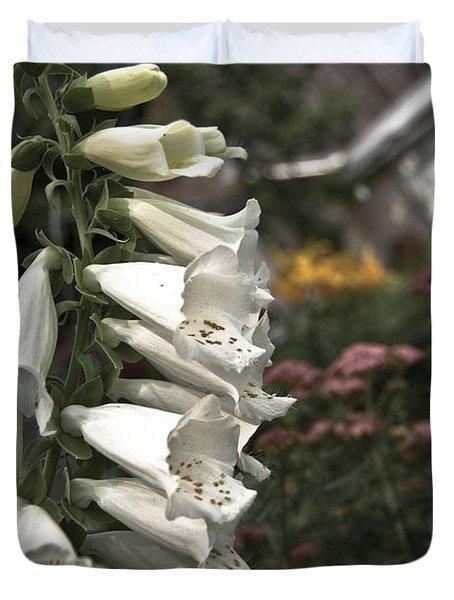 Ivory Foxglove Duvet Cover