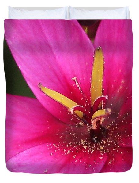 Duvet Cover featuring the photograph Ixia Named Venus by J McCombie