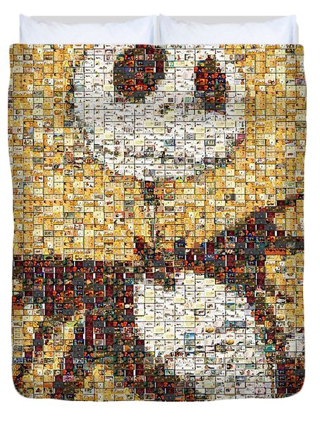 Jack Halloween Mosaic Duvet Cover by Paul Van Scott