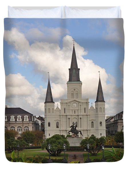 Jackson Square New Orleans Duvet Cover by Bill Cannon
