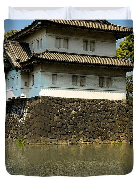 Japan Castle Duvet Cover by Sebastian Musial