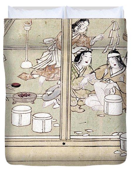 Japan: Childbirth, 1329 Duvet Cover