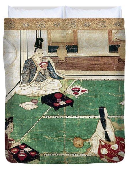 Japan: Eating Rice Duvet Cover
