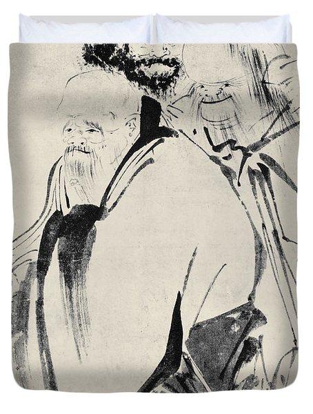 Japan: Old Men, C1425 Duvet Cover