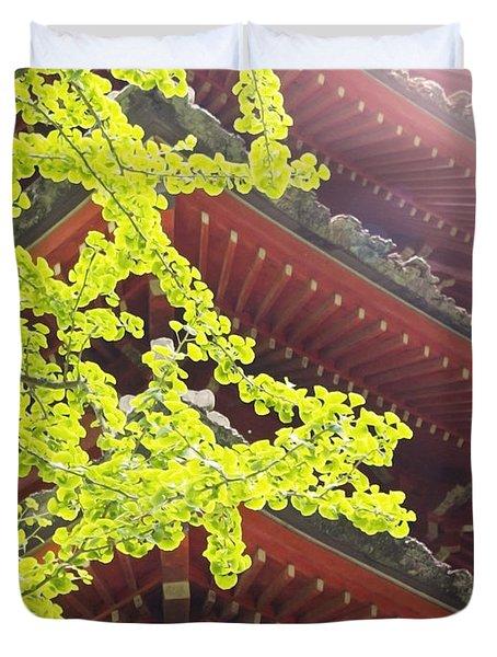 Japanese Tea Garden Duvet Cover