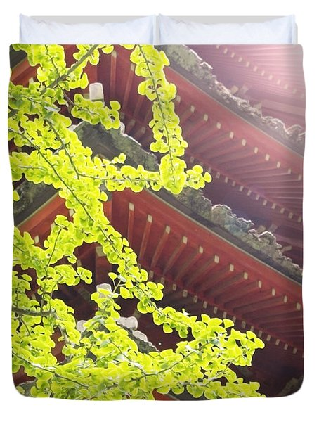 Japanese Tea Garden Duvet Cover