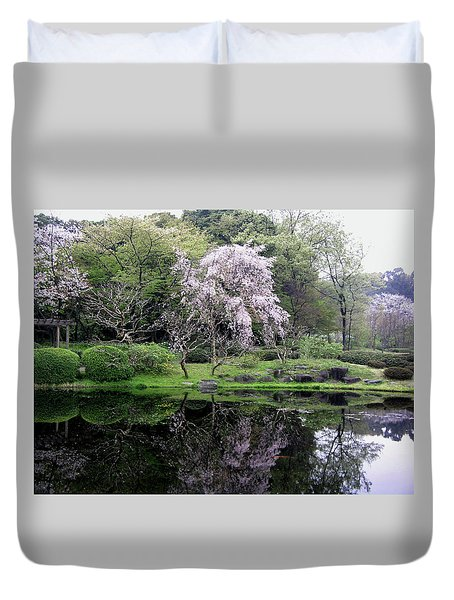 Japan's Imperial Garden Duvet Cover