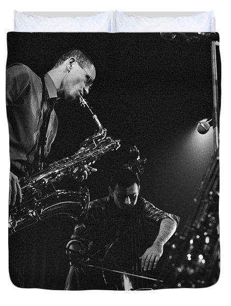 Jazz Scene Duvet Cover