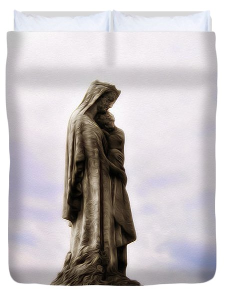 Jesus And Mary Duvet Cover by Bill Cannon