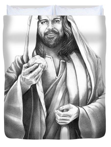 Jesus Christ Duvet Cover by Murphy Elliott