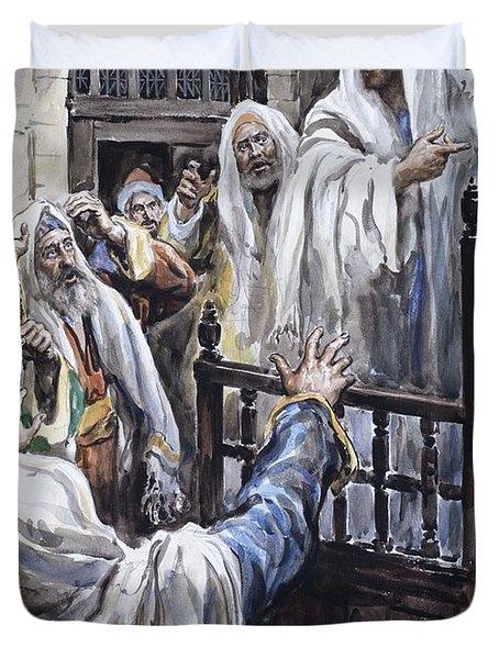Jesus  Duvet Cover by Henry Coller