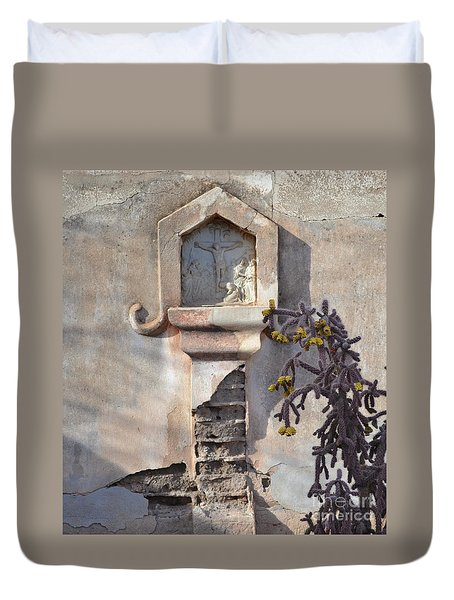 Duvet Cover featuring the photograph Jesus Image by Rebecca Margraf