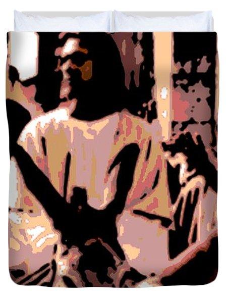 Jesus Rides Into Jerusalem Duvet Cover by George Pedro