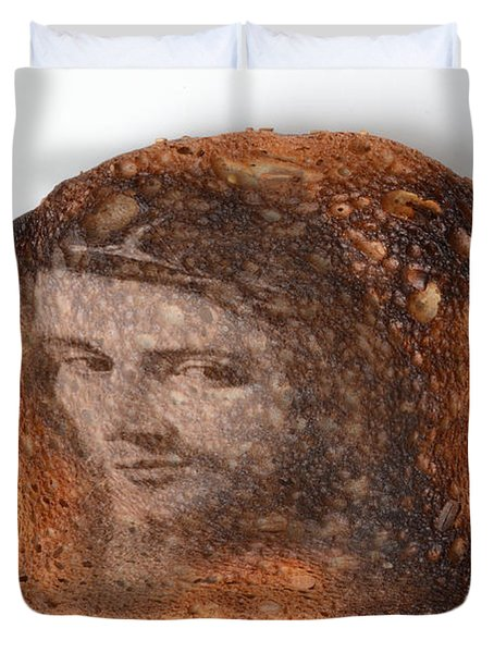 Jesus Toast Duvet Cover by Photo Researchers, Inc.