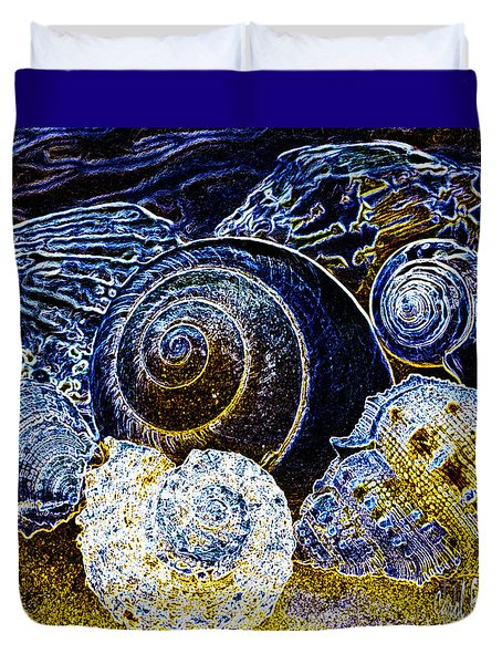 Abstract Seashell Art Duvet Cover