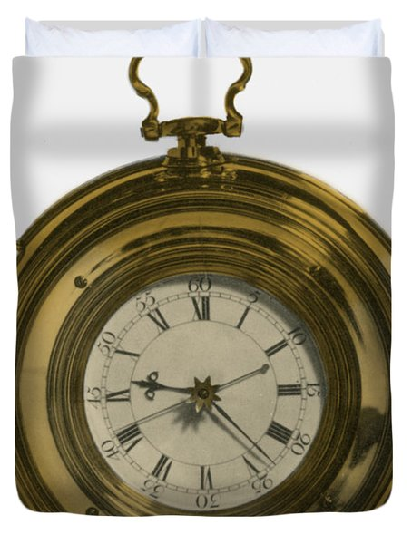 John Harrisons Last Marine Timepiece Duvet Cover by Science Source
