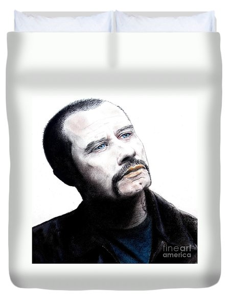 John Travolta In The Taking Of Pelham 123  Duvet Cover by Jim Fitzpatrick