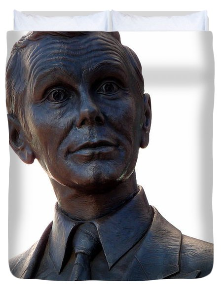 Johnny Carson Duvet Cover by Jeff Lowe