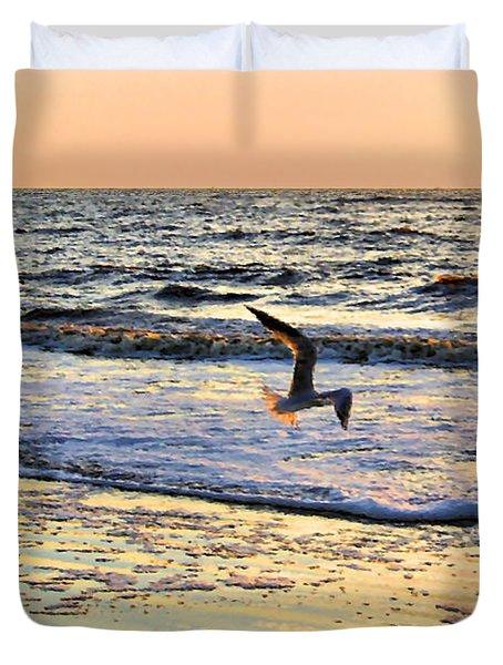 Jonathan Livingston Seagull Duvet Cover by Kristin Elmquist