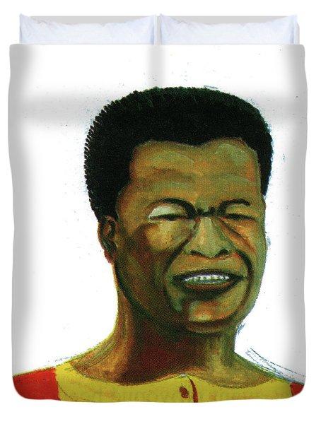 Jose Belo Chipenda Duvet Cover by Emmanuel Baliyanga