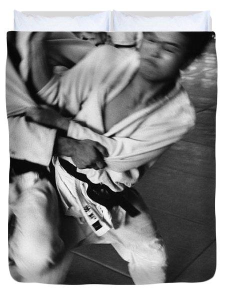 Judo Duvet Cover by Bernard Wolff