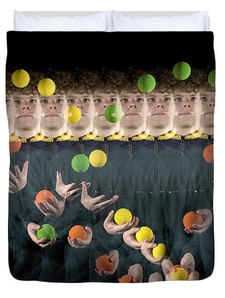 Juggler Duvet Cover by Ted Kinsman