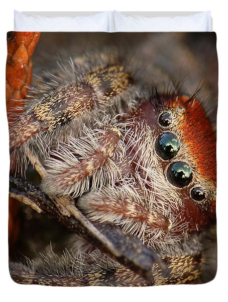 Jumping Spider Portrait Duvet Cover