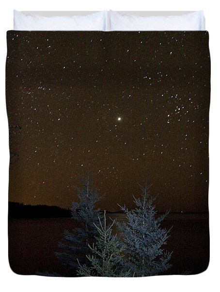 Duvet Cover featuring the photograph Jupiter  Over Otter Point 2 by Brent L Ander