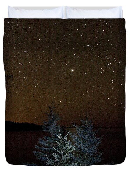 Duvet Cover featuring the photograph Jupiter  Over Otter Point 3 by Brent L Ander