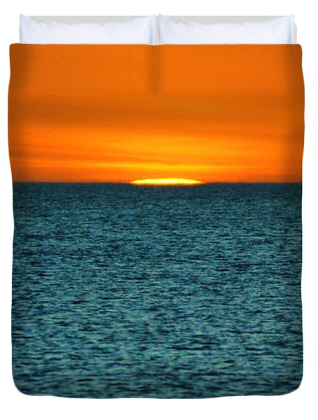 Duvet Cover featuring the photograph Just A Sliver by Anthony Wilkening