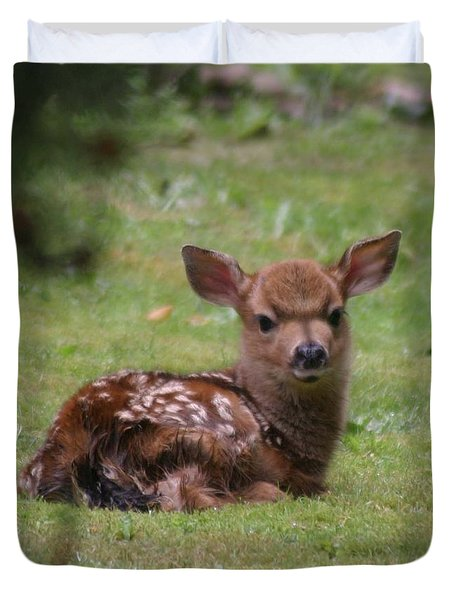 Just Born Bambi Duvet Cover by Kym Backland