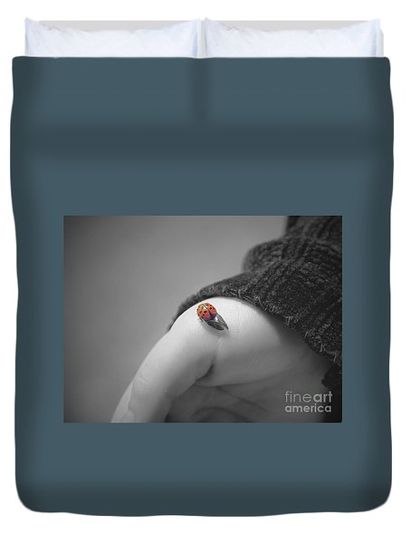 Just For A Moment Duvet Cover by Aimelle