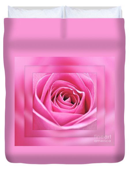 Just Pink Duvet Cover by Kaye Menner