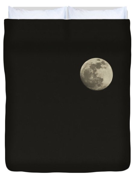Just The Moon Duvet Cover by Roger Wedegis