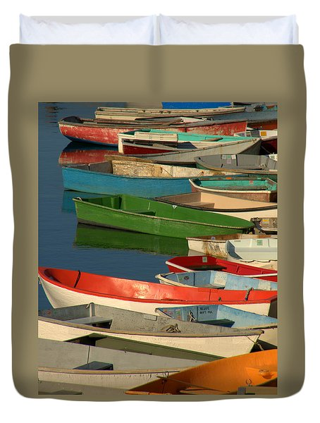 Duvet Cover featuring the photograph Just Waiting by Caroline Stella