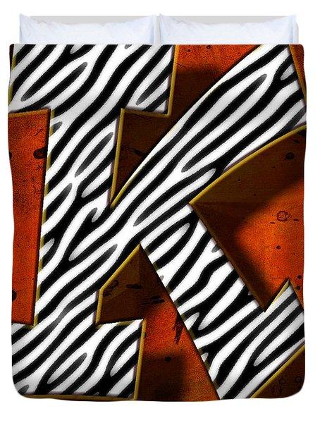 K Duvet Cover by Mauro Celotti