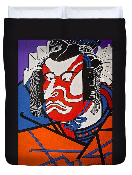 Kabuki Actor 2 Duvet Cover by Stephanie Moore