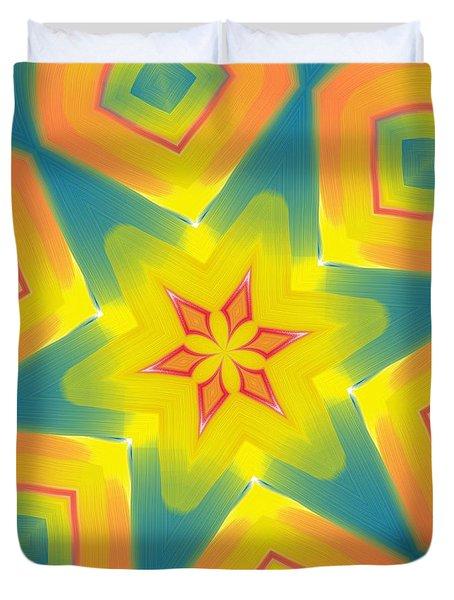 Kaleidoscope Series Number 8 Duvet Cover by Alec Drake