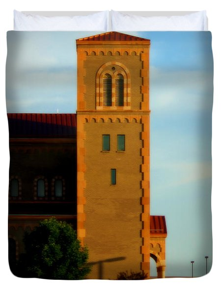 Duvet Cover featuring the photograph Kansas Architecture by Jeanette C Landstrom