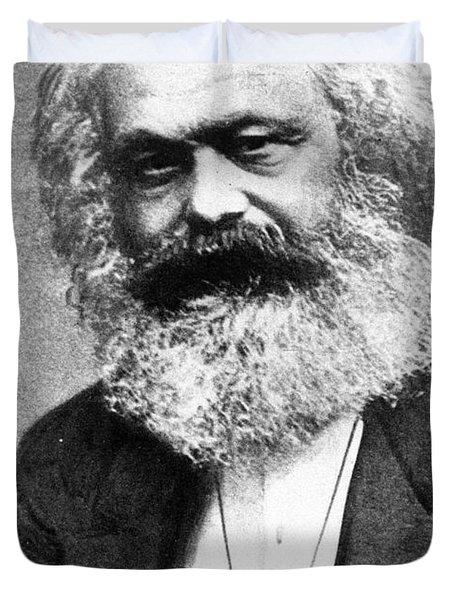 Karl Marx Duvet Cover by Unknown
