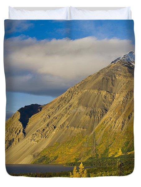 Kathleen Lake, Kluane National Park Duvet Cover by John Sylvester