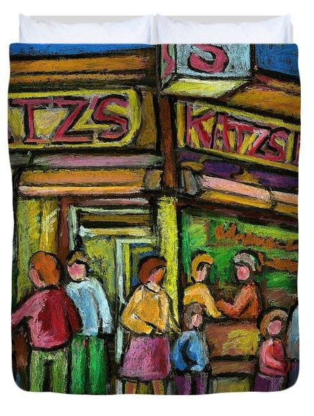 Katz's Houston Street Deli Duvet Cover by Carole Spandau
