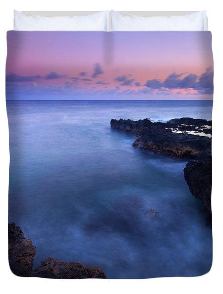Kauai  Pastel Tides Duvet Cover by Mike  Dawson