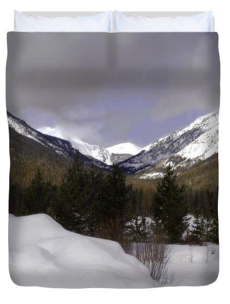 Kawuneeche Valley - Rocky Mountain National Park Duvet Cover by Ellen Heaverlo