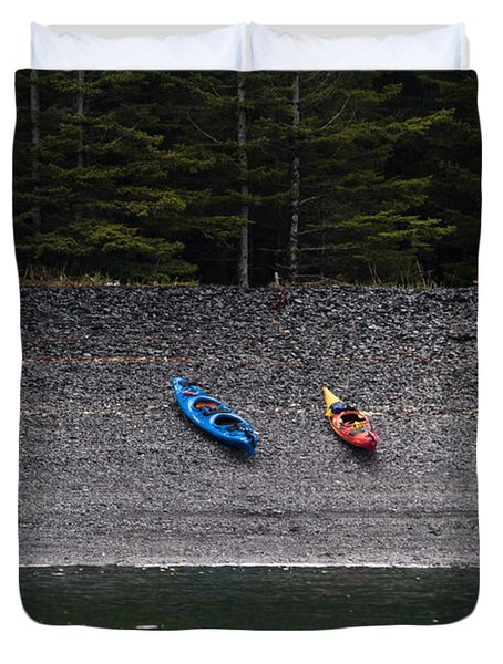Kayak Shore Duvet Cover